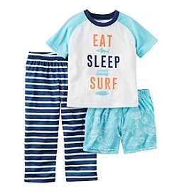Carter's® Boys' 3-Piece Eat Sleep Surf Pajama Set