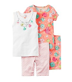 Carter's® Girls' 4-Piece Sea Fish Pajama Set