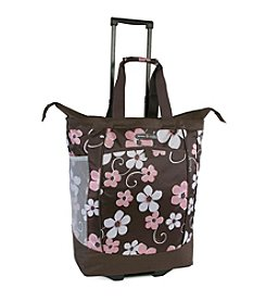 Pacific Coast® Hawaiian Pink Rolling Shopping Tote Bag