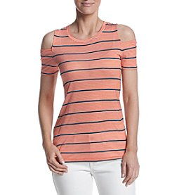 MICHAEL Michael Kors® Striped Cold Shoulder Tee