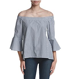 Cupio Striped Off Shoulder Top