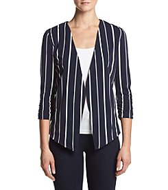 Sequin Hearts® Pleated Stripe Blazer