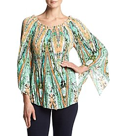 Cupio Crystal Pleat Release Top