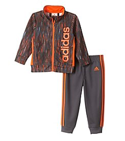 adidas® Baby Boys 2-Piece Vertical Heather Jacket Set