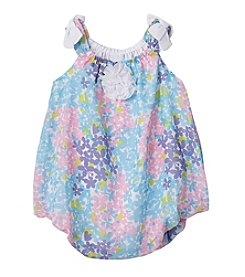 Cuddle Bear® Baby Girls' Floral Bubble Romper