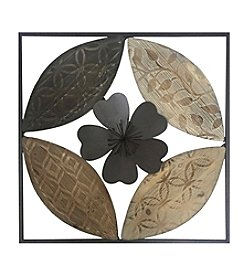 Stratton Home Decor Flower Carved Wood Wall Decor