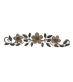 Stratton Home Decor Floral Patterned Wood Over the Door Wall Decor