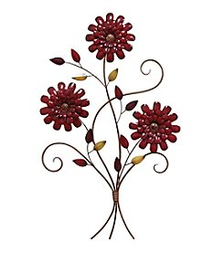 Stratton Home Decor Red Floral Bouquet Wall Decor