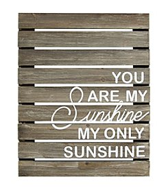 Stratton Home Decor You Are My Sunshine Plank Wood Wall Art