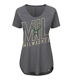 Majestic® NBA® Milwaukee Bucks Women's Fanatic Force Short Sleeve Tee