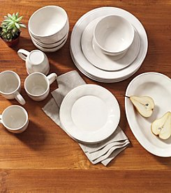 Rachael Ray® Cucina Ricotta White 16-pc. Stoneware Dinnerware Set