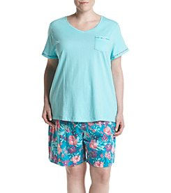 Intimate Essentials® Plus Size Floral Bermuda Pajama Set