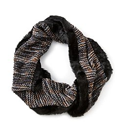 Collection 18 Running Seed Stitch Fur Scarf