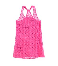 Miss Attitude Girls' 10-12 Crochet Swimsuit Coverup