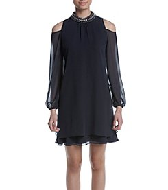 Xscape Cold-Shoulder Dress