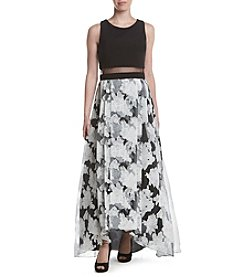 Betsy & Adam® Popover Floral Skirt Dress