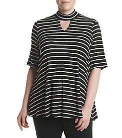 Relativity® Plus Size Striped Gigi Top