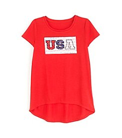 It's Our Time® Girls' 7-16 USA High-Low Tee
