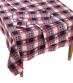 LivingQuarters American Stars Table Linen Collection