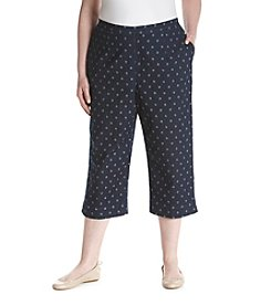 Alfred Dunner® Plus Size Lady Liberty Star Print Capris