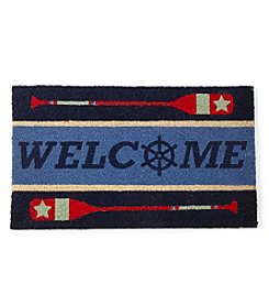LivingQuarters Lake Welcome Aboard Coir Mat