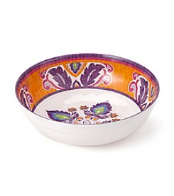LivingQuarters Old Havana Medallion Small Bowl