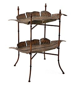 LivingQuarters Old Havana Metal Leaf Side Table