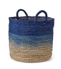 LivingQuarters Old Havana Large Ombre Seagrass Basket