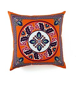 LivingQuarters Old Havana Scarf Print Pillow