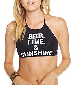 Chaser® Beer Lime And Sunshine Swim Halter Top