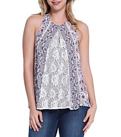 Skylar & Jade™ Lace Panel Swing Tank