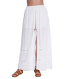 Skylar & Jade™ Lace Trim Slit Maxi Skirt