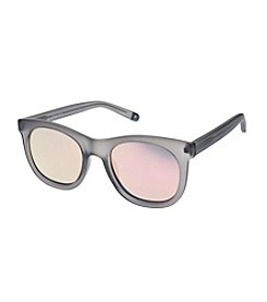 Nine West® Large Plastic Rounded With Flat Lenses Sunglasses