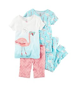 Carter's® Girls' Flamingo Pajamas Set