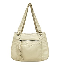 GAL Front Organizer Pocket With Tassel Tote