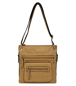 GAL Vegan Tan Perf Multi Pocket Crossbody
