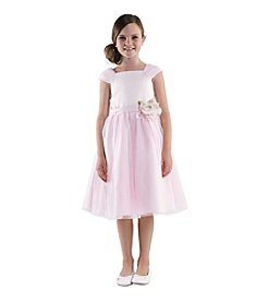 Lavender Girls' 4-6X Shirred Princess Dress With 3D Flower