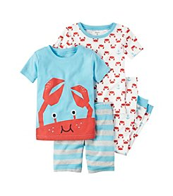 Carter's® Boys' 8-12 4-Piece Crab Pajama Set