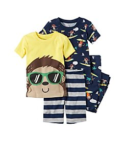 Carter's® Boys' 8-12 4-Piece Surf Monkey Pajama Set