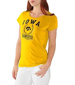 G III NCAA® Iowa Hawkeyes Women's End Zone Short Sleeve Tee