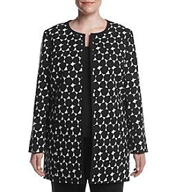 Kasper® Plus Size Graphic Circle Topper Jacket