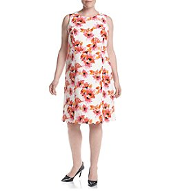 Kasper® Plus Size Floral Print Jacquard Dress