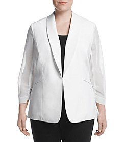 Nine West® Plus Size Mesh Sleeve Jacket