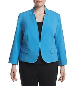 Nine West® Plus Size Solid Crepe Jacket