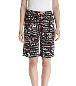 Relativity® Printed Knit Sleep Bermuda Shorts