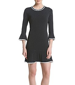 MICHAEL Michael Kors® Dot Printed Flounce Dress