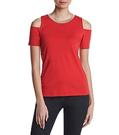 MICHAEL Michael Kors® Petites' Cold Shoulder Tee