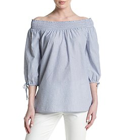 Cupio Smocked Peasant Top