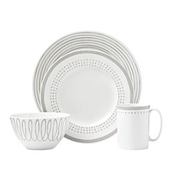 kate spade new york® Charlotte Street Grey East 4-pc. Place Setting