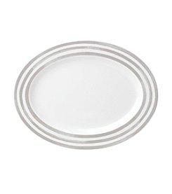 kate spade new york® Charlotte Street Grey Oval Platter